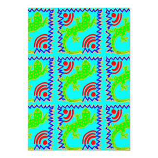 Funky Polka Dot Lizard Pattern Animal Designs Card