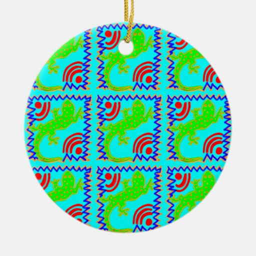 Funky Polka Dot Lizard Pattern Animal Designs Ceramic