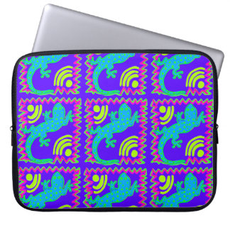 Funky Polka Dot Lizard Pattern Animal Designs Laptop Computer Sleeve