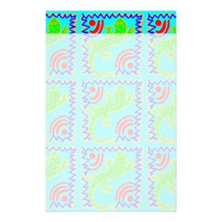 Funky Polka Dot Lizard Pattern Animal Designs Stationery