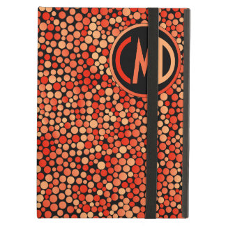 Funky Polka Dot Pattern in Red, Orange and Yellow iPad Air Covers