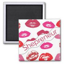 Funky pop art lips magnet