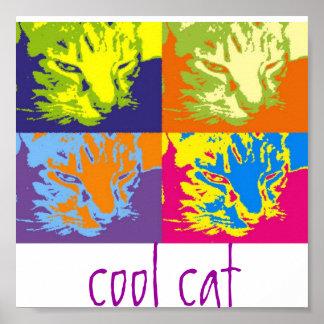 funky pop cat poster
