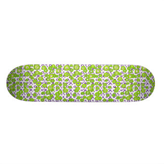 Funky Pop Crazy Lime Circles Skateboard