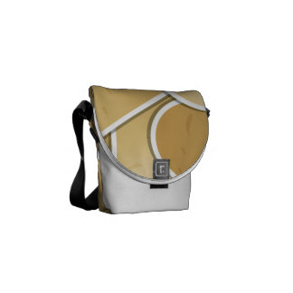 Funky potato messenger bag