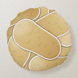 Funky potato round pillow