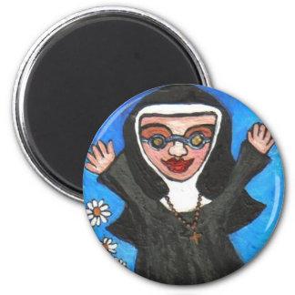 Funky Preachin' Nun - magnet