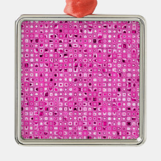 Funky 'Pretty In Pink' Mosaic Tiles Pattern Ornaments