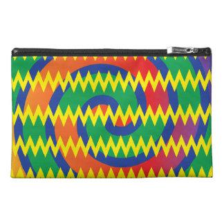 Funky Primary Colors Swirls Chevron ZigZags Design Travel Accessories Bag