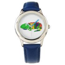 Funky Primitive Art Iguana Watch