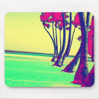 funky psychedelic beach design mouse pad