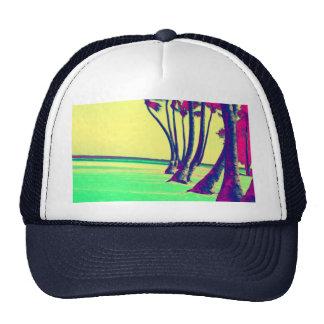 funky psychedelic beach design trucker hat
