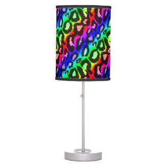 Funky Psychedelic Leopard Print Animal Pattern Lamps
