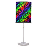 Funky Psychedelic Zebra Stripes Animal Pattern Desk Lamp