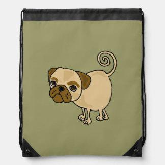 Funky Pug Cartoon Backpack