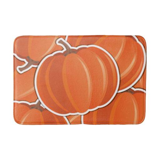 Funky Pumpkin Bathroom Mat Zazzle