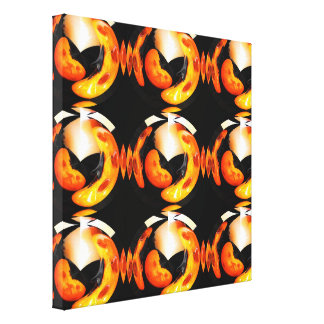 Funky pumpkins canvas print