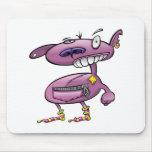funky punk socks purple monster mouse pad