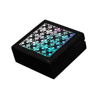 Funky punky discolored damask jewelry box