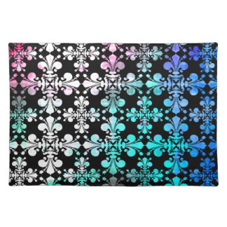 Funky punky discolored damask placemat