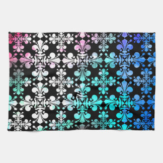 Funky punky discolored damask towel