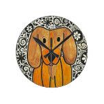Funky Puppy Art Clock