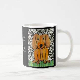 Funky Puppy Classic White Coffee Mug