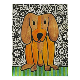 Funky Puppy Poster