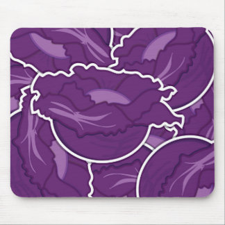 Funky purple cabbage mouse pad