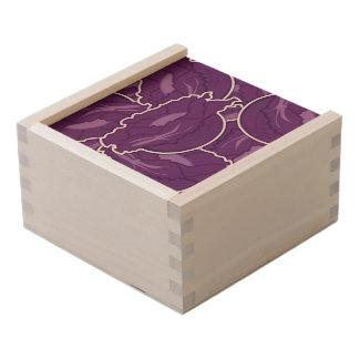 Funky purple cabbage wooden keepsake box