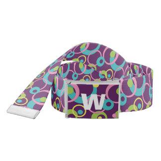 Funky Purple Circles Casual Belt