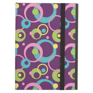 Funky Purple Circles iPad Powis Case iPad Air Cover