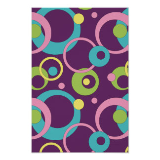 Funky Purple Circles Poster
