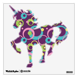 Funky Purple Circles Wall Decal