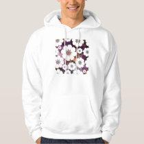Funky Purple Flower Power Hoodie