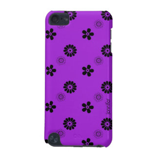 Funky Purple Flowers iPod Case