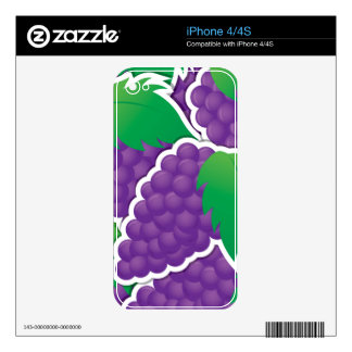 Funky purple grapes iPhone 4S skins