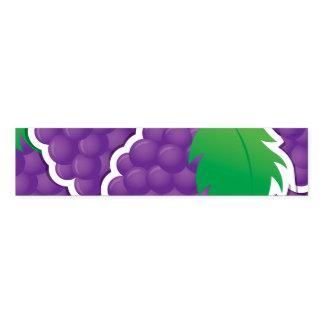 Funky purple grapes napkin band
