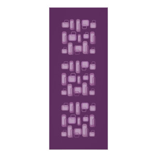 Funky Purple & Lilac Retro Rectangles Canvas Posters