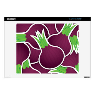"""Funky purple onions 14"""" laptop decals"""