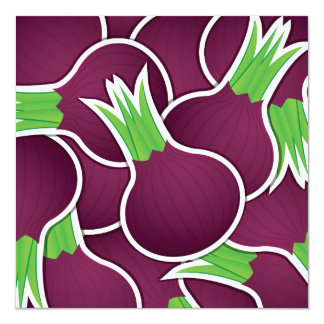 Funky purple onions card