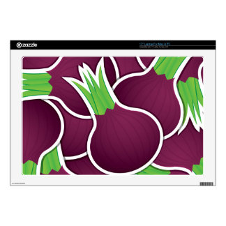 Funky purple onions decals for laptops