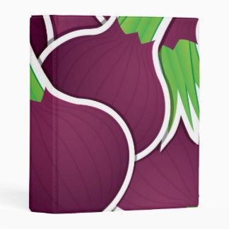 Funky purple onions mini binder