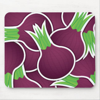 Funky purple onions mouse pad
