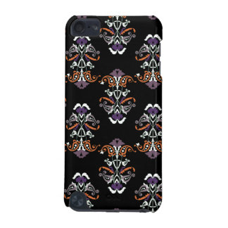 Funky Purple Orange Damask Pattern iPod Touch (5th Generation) Cover