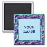 Funky Purple Pattern Magnet