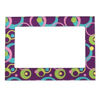 Funky Purple Photo Magnet