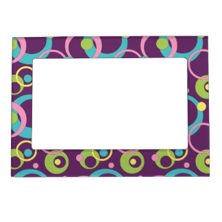 Funky Purple Photo Magnet Magnetic Frame