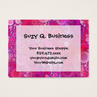 Funky Purple Pink Concentric Circles Girly Pattern Business Card