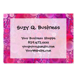 Funky Purple Pink Concentric Circles Girly Pattern Large Business Card